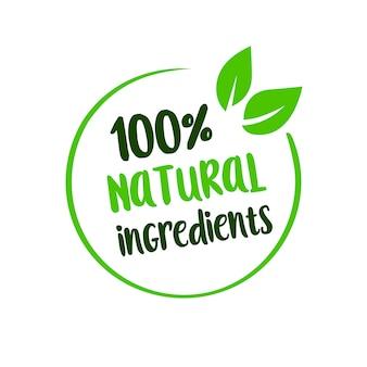 Lettering di ingredienti naturali per il mercato