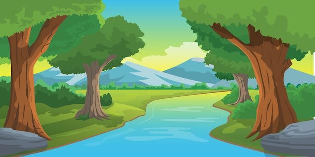 Illustrazione del paesaggio naturale
