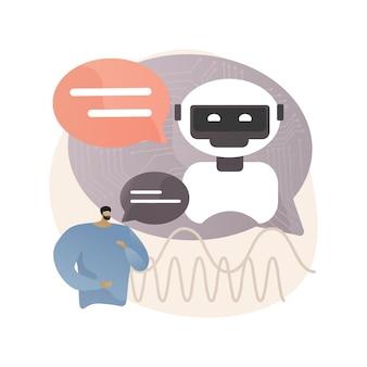 Illustrazione astratta di elaborazione del linguaggio naturale.