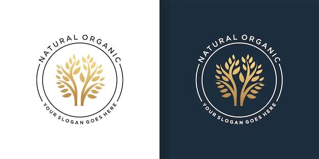 Modello di progettazione di logo biologico naturale