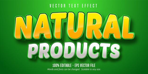 Effetto testo prodotti naturali, stile carattere modificabile