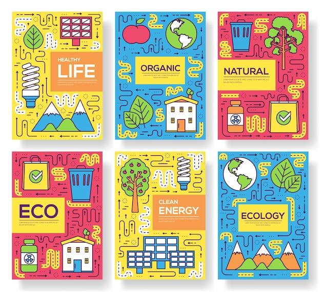 Modello di risorse naturali di flyear, riviste, poster, copertina di libro, banner.