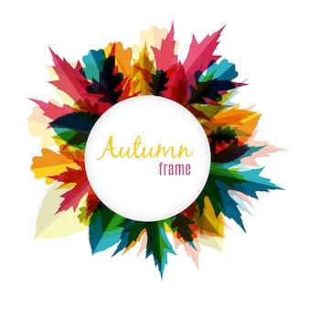 Illustrazione di vettore del fondo della struttura delle foglie di autunno soleggiate naturali eps10