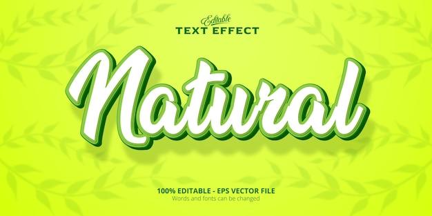 Effetto testo modificabile testo naturale