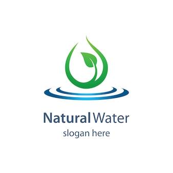 Acqua naturale logo modello illustraation design