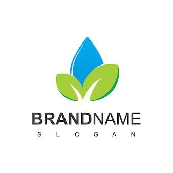 Logo dell'acqua naturale