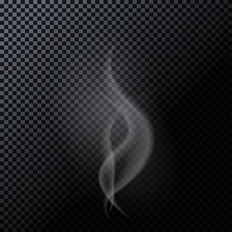 Fumo naturalistico isolato su sfondo scuro. illustrazione di vettore. eps10 Vettore Premium