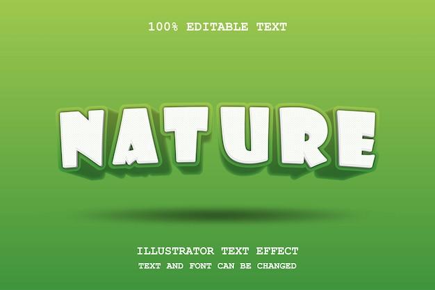 Natura, stile di ombra comico del modello moderno verde modificabile di effetto del testo 3d