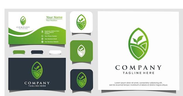 Design del logo natura agricoltura