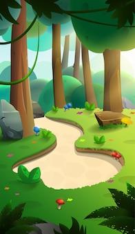 Natura sfondo paesaggio forestale pieno di alberi e cespugli