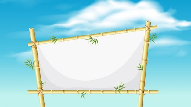 Una tavola di bambù naturale