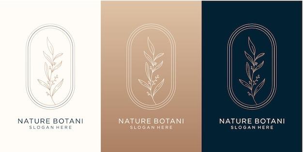 Design del logo botanico della natura per il tuo marchio