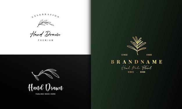 Natura ramo botanico logo design