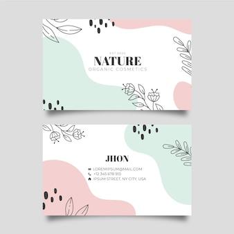 Modello di biglietto da visita natura