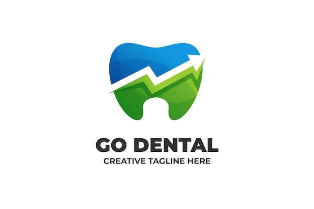 Logo aziendale sfumatura dentista natura