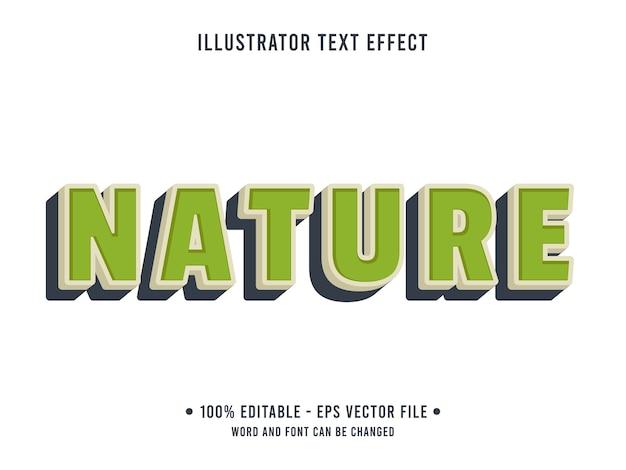 Natura testo modificabile effetto stile moderno con colore verde