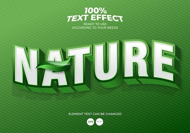 Effetto testo modificabile natura