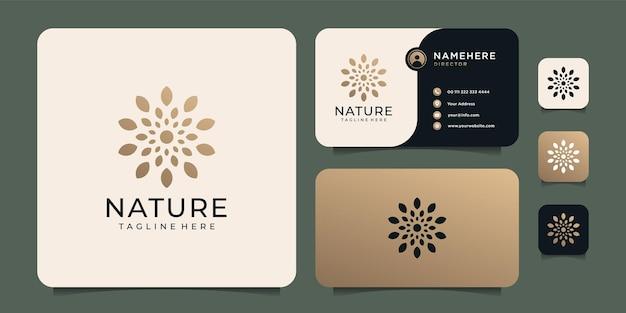 Logo del fiore femminile della natura
