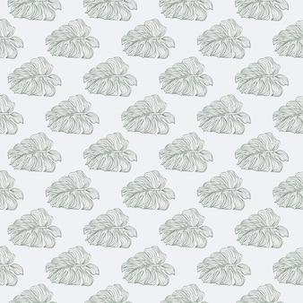 Modello senza cuciture floreale della natura con l'ornamento delle foglie di monstera. sfondo grigio pastello. fondale decorativo per il design del tessuto, stampa tessile, avvolgimento, copertina. illustrazione vettoriale.