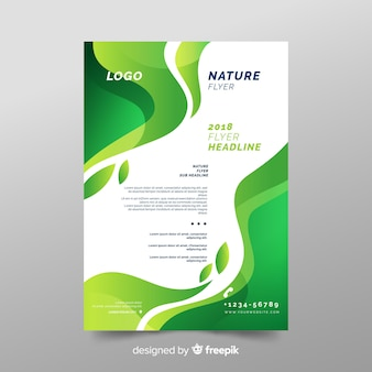 Modello di volantino natura con design moderno
