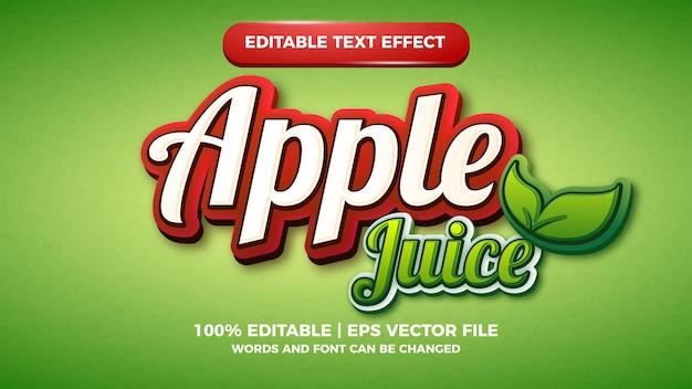 Effetto di testo modificabile nature food per il design del logo