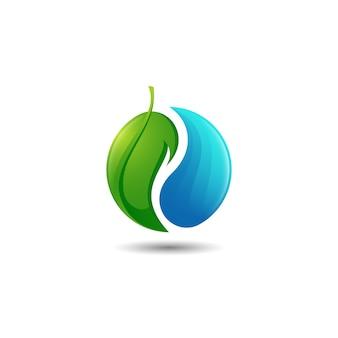 Modello di logo di armonia della natura