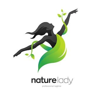 Design del logo della signora della natura