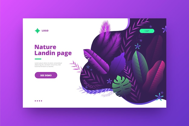 Modello di pagine di destinazione della natura