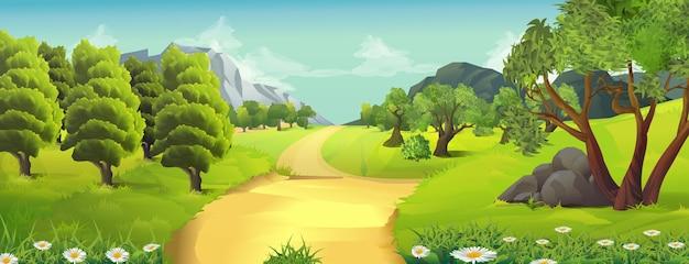 Natura sullo sfondo del paesaggio