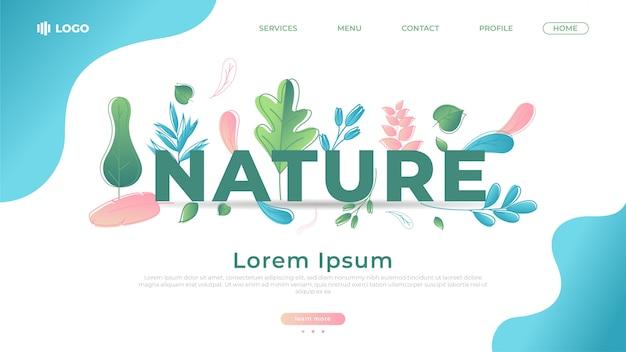 La natura lascia una landing page piatta