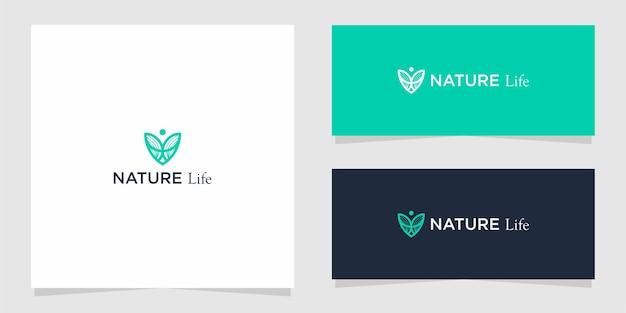 Il design grafico del logo nature life per altri usi è molto adatto per l'uso