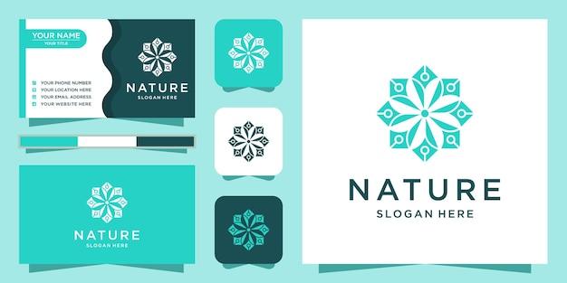 Design del logo della natura