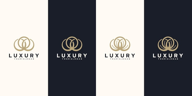 Logo della natura, logo cosmetico, yoga, salone di bellezza e altro, logo di riferimento per il business