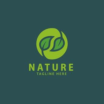 Modello di logo della natura