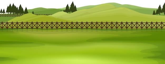 Modello di paesaggio della scena della natura