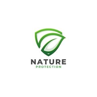 Nature shield - logo di protezione della natura