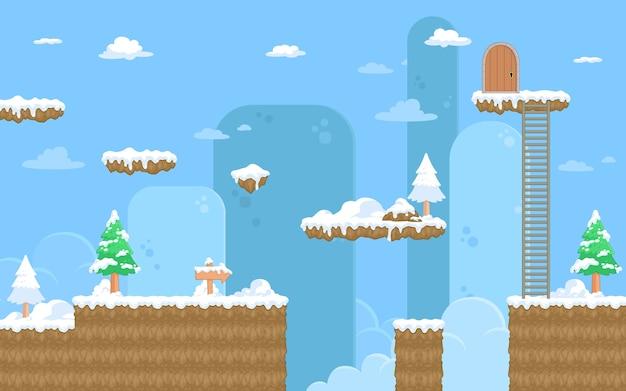 Sfondo di gioco di natura neve
