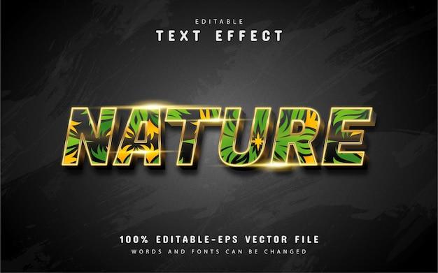 Effetti di testo della natura isolati sul nero