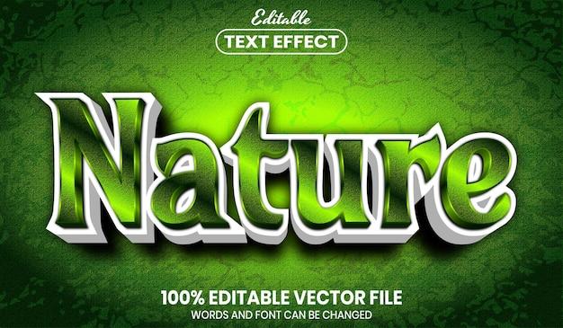 Testo della natura, effetto testo modificabile in stile carattere font