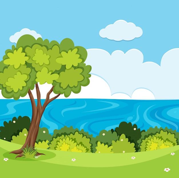 Un paesaggio vista natura