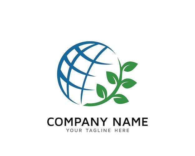 Natura design logo del mondo