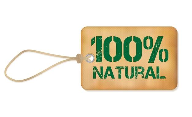 Illustrazione di vettore dell'etichetta di lerciume di vecchia carta di natutal