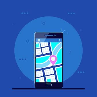 Applicazione di navigazione sul cellulare