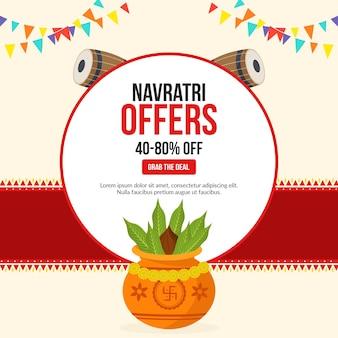 Navratri offre un modello di progettazione di banner per festival