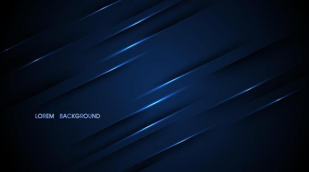 L'estratto blu navy con le linee si illumina sullo sfondo dell'illustrazione