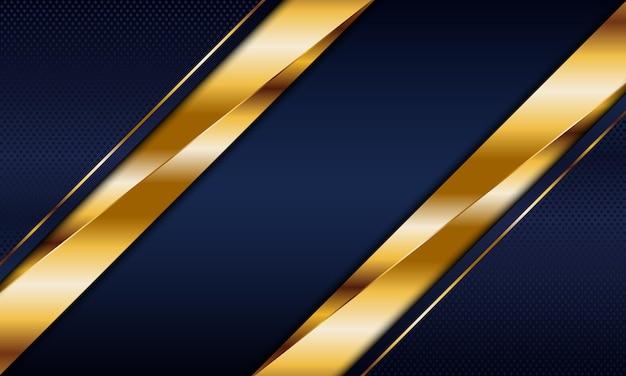 Strisce blu navy e dorate con sfondo a righe. illustrazione vettoriale. design di lusso per il business.