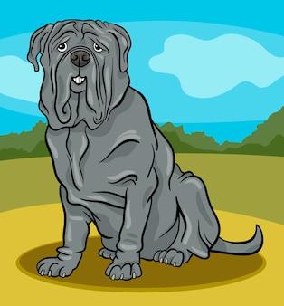 Illustrazione del fumetto del cane mastino napoletano