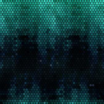 Colore di tono di sfondo verde mosaico nebuloso esagono