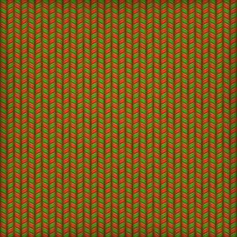 Sfondo di ricamo, motivo a maglia ornamentale verde rosso.