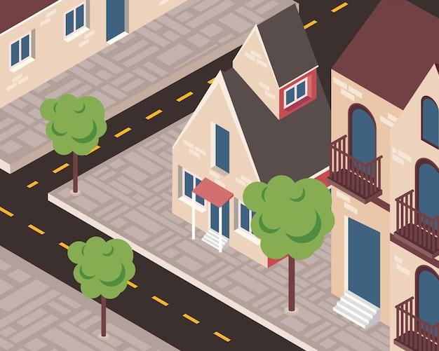 Scena di strada di vicinato